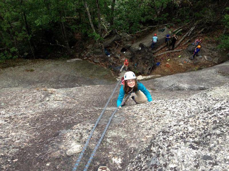 Zoe-rock-climbing